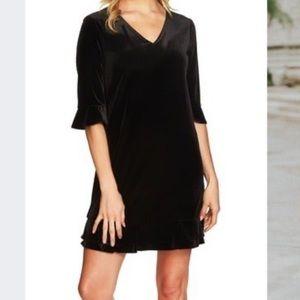 *NEW* CeCe velvet Black Dress